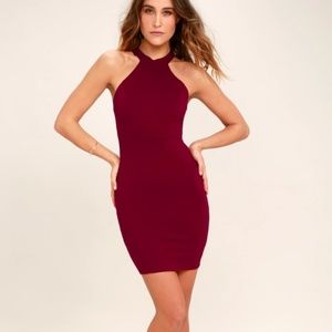 cd29d0e9f2 Lulu s Dresses - Wine Red Lace Bodycon Dress
